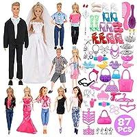 Liberty Imports 大包全套手工服装,配有娃娃的鞋子和配饰(12 件衣服 + 鞋子和配饰)