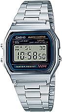 CASIO 系列中性款数码手表,不锈钢手镯–a168wg