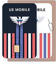 预付 SIM 卡(美国手机) - 定制计划,价格为 4 美元/月。 无限计划,价格10 美元/月
