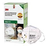 3M KN95口罩 9501V 颗粒物防护口罩(耳戴式)透气呼吸阀独立包装25只(亚马逊自营商品 由供应商配送)