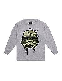 Star Wars 男童帝国迷彩面具长袖上衣