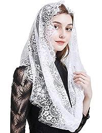 FANFAN 天主教面纱蕾丝 Mantilla Chapel 头纱质量无限头纱 Y013