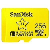 SanDisk 闪迪 256GB microSDXC UHS-I存储卡,适用于任天堂游戏机-SDSQXAO-256G-GNCZN