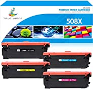 True Image 4 Packs High Yield HP Color Laserjet Enterprise M553DN Toner Compatible Toner Cartridge Replacement