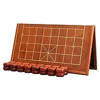 中国象棋-红花梨(绍氏紫檀) 实木象棋-折叠棋盘套装-御圣