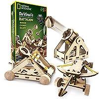 NATIONAL GEOGRAPHIC 达芬奇的DIY科学与工程建设工具包,建造三种作用齐全的木制模型:弹射器,轰炸机和Ballista炮
