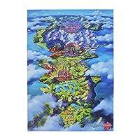 Pokemon Center 原创 海报 伽勒尔地区地图