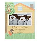 Angel Dear Pair and a Spare 3 Piece Blanket Set, Greyish Blue Raccoon