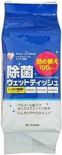 日本爱丽思100抽酒精片消毒片消毒湿巾除菌湿巾替换装 30%酒精