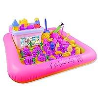 【可以带回家的沙滩】 奥宇太空沙 儿童趣味DIY玩具沙子火星沙 亲子百变沙玩具魔力安全无毒男孩女孩粘土橡皮泥气垫 (5斤装(沙4斤) 橙色 (114个模具、大沙盘、士兵模型、国旗、教程))