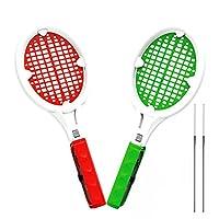 SoundFox Joy Con 網球拍(2 只裝-紅色和*)- Supermario 網球 ACES 游戲,適用于任天堂 Switch
