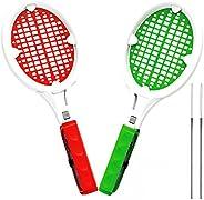 SoundFox Joy Con 网球拍(2 只装-红色和*)- Supermario 网球 ACES 游戏,适用于任天堂 Switch
