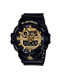 Casio 卡西欧 男士多表盘 石英手表 带树脂表带 GA-710GB-1AER