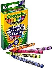 Crayola 绘儿乐 526916 可水洗蜡笔 超净/常规,8色,16支