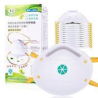 20 件Particulate *器带排气阀防尘面具个人防护*面具设备 N95 用于家庭清洁建筑 DIY 项目