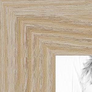 "ArtToFrames 10x10 / 10 x 10 相框缎面白色 3.18 cm 宽 (WOMFRBW26) 橡木色 12 x 18"" WOM76808-972-12x18"