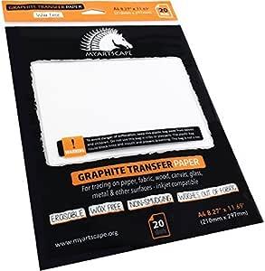 石墨纸 - 无蜡 - 混合 20 Sheets MAS-302-GRAPHITE-PAPER-WF-A4-20-MIXED