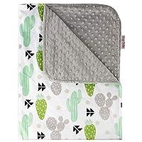 Top Tots 树和仙人掌系列,豪华婴儿毯,绿灰色仙人掌,40 x 29 英寸
