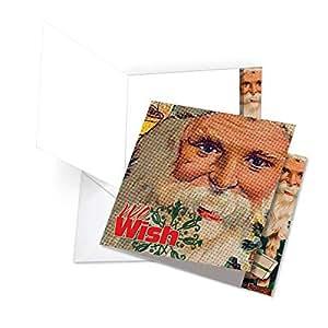 Seasonal Swirls 圣诞节趣味贺卡 1 Jumbo, Square Christmas Card (Jq5194gxsg)