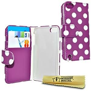 配件 Master 折叠手机套人造皮革适用于 iPod Touch 5 Violett/Weiß