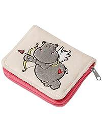 NICI 钱包 Love Hippo,软玩具,12 x 9.5 厘米,灰色 (37593)