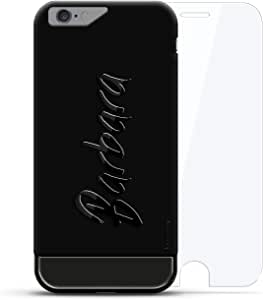 奢华设计师,3D 印花,时尚,高端,高级LUX-I624KB360-NMBARBARA1 Barbara, Hand-Written First Name Velvet Black & Titanium Black