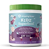 Amazing Grass Kidz SuperFood Powder, Wild Berry Flavor, 6.5-Ounce Canister