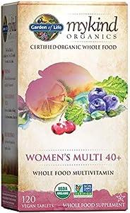 Garden of Life 生命花园 mykind多种维生素片 适宜40 +女性 全食品维生素补充剂 120素食片
