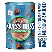 瑞士错过热可可混合,适于甜蜜,不添加糖,13.8 盎司 (12 件装)