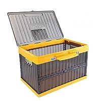 EKOA 亿高 EK-710 折叠式汽车收纳箱 车载后备箱储物箱 钓鱼箱 可装水汽车储物箱 透明灰 35L(供应商直送)