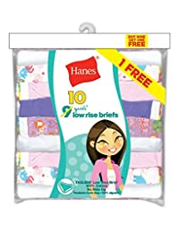 Hanes PA13LR Girls ComfortSoft Low Rise Briefs - Assorted - 12
