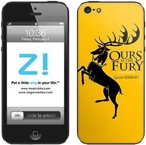 Zing Revolution Game of Thrones Premium Vinyl Adhesive Skin for iPhone 5, 5S, 5C, Baratheon Sigil Image, MS-GOT20318