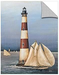 "Tremont Hill David Carter 棕色""Harbor Lights""可移除壁画 蓝色 36X48"" 2bro008a3648p"