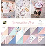 American Crafts 卡片纸 30.48cm X 30.48cm Samantha Rose 优质印刷卡片夹层 原版 12-x-12-Inch PS-005-00593