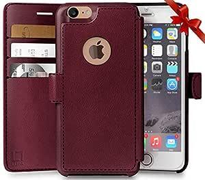 iPhone 7 钱包式手机壳4336662359 8 Burgundy (CHOOSE CORRECT SIZE)
