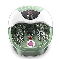 Turejo *水疗/*沐浴按摩器 带热气泡,14个按摩滚轮,温度控制,石和家水疗*药盒,缓解* - 新薄荷