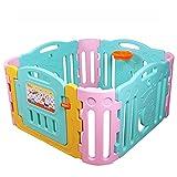 鑫乐林 儿童室内游戏围栏 家庭宝宝安全防护栏 婴儿学步爬行护栏栅栏 1.25*1.25米蓝粉组合
