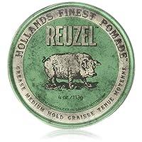 Reuzel Pomade Green 绿盒发油 中等定型力 1 盒装(1 x 113 克)