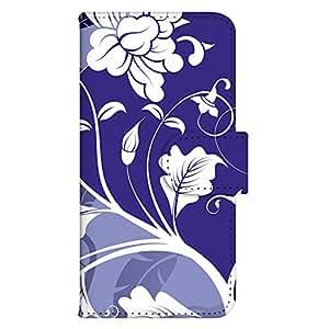 智能手机壳 手册式 对应全部机型 印刷手册 wn-687top 套 手册 花朵图案 UV印刷 壳WN-PR168663-MX GALAXY S5 SC-04F SCL23 图案C