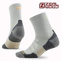 zealwood 赛乐 4双装 椰碳系列登山远足徒步袜吸附异味防臭袜日常生活休闲袜子
