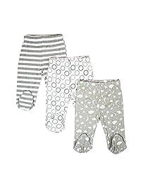 Spasilk 男宝宝棉质连脚裤 3 件套