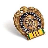 越野战争 50 周年纪念内战退伍军纪念徽章别针