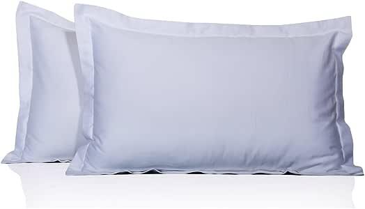 Furnish Homes 650 支 2 件枕套 * 埃及棉纯色图案 所有尺寸和颜色 白色 King B013K04WHS