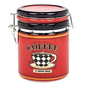经 LoriLynn Simms 国际认证咖啡始终夹顶罐 多种颜色 52 oz 22641