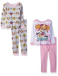 Nickelodeon 女婴狗狗巡逻队 4 件套纯棉睡衣套装
