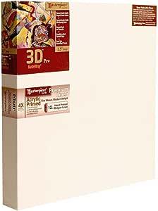 "Masterpiece 3D PRO 2-1/2"" Deep, 18 x 18 Inch, Muir Acrylic Primed Belgian Linen Canvas"