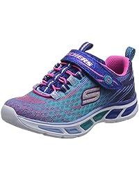 Skechers 斯凯奇 SKECHERS GIRLS系列 女童 魔术贴闪灯运动鞋 10667
