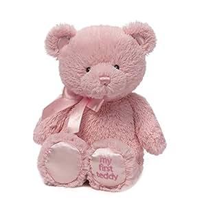 """Gund 婴儿 Gund My 1st Teddy 毛绒玩具,18"""" 粉红色 18"""""""
