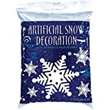 Amscan Winter Wonderland Christmas Party Snow Flurries Artificial Snow Decoration, Blue/White, 2.5 oz