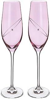 Dartington 水晶 - 庆祝红宝石香槟色长笛